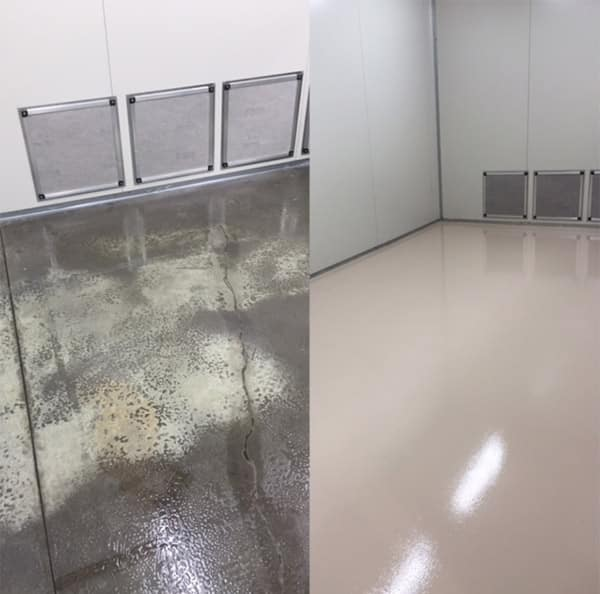Epoxy floor covering